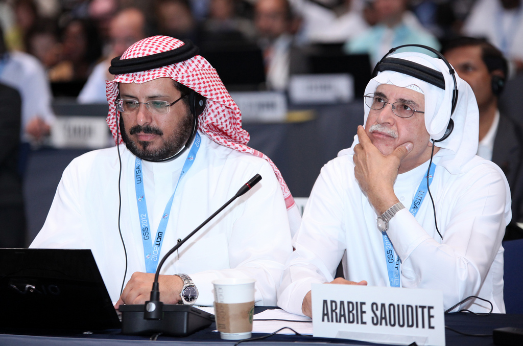 Delegates from Saudi Arabia at today's summit in Dubai. They opposed efforts by the U.S. and Europe to make the Internet off-limits to summit discussions.