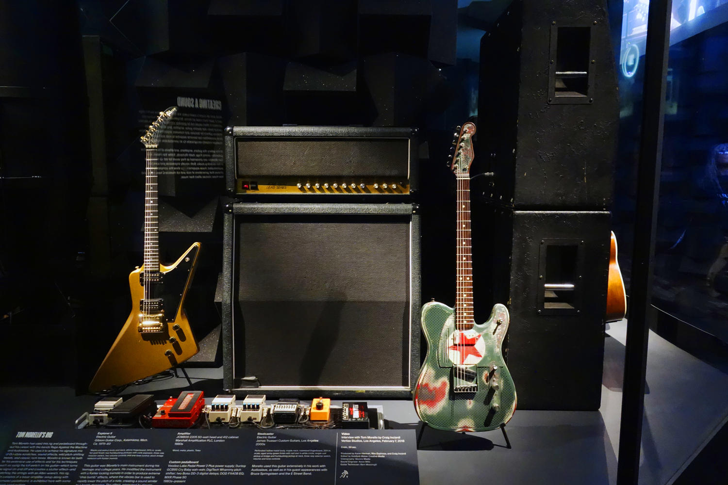Tom Morello's rig from the 1980s to 2000s