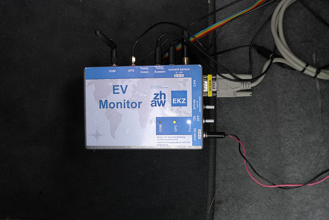 This device installed in test electric vehicles connects battery and systems information to IBM's cloud.