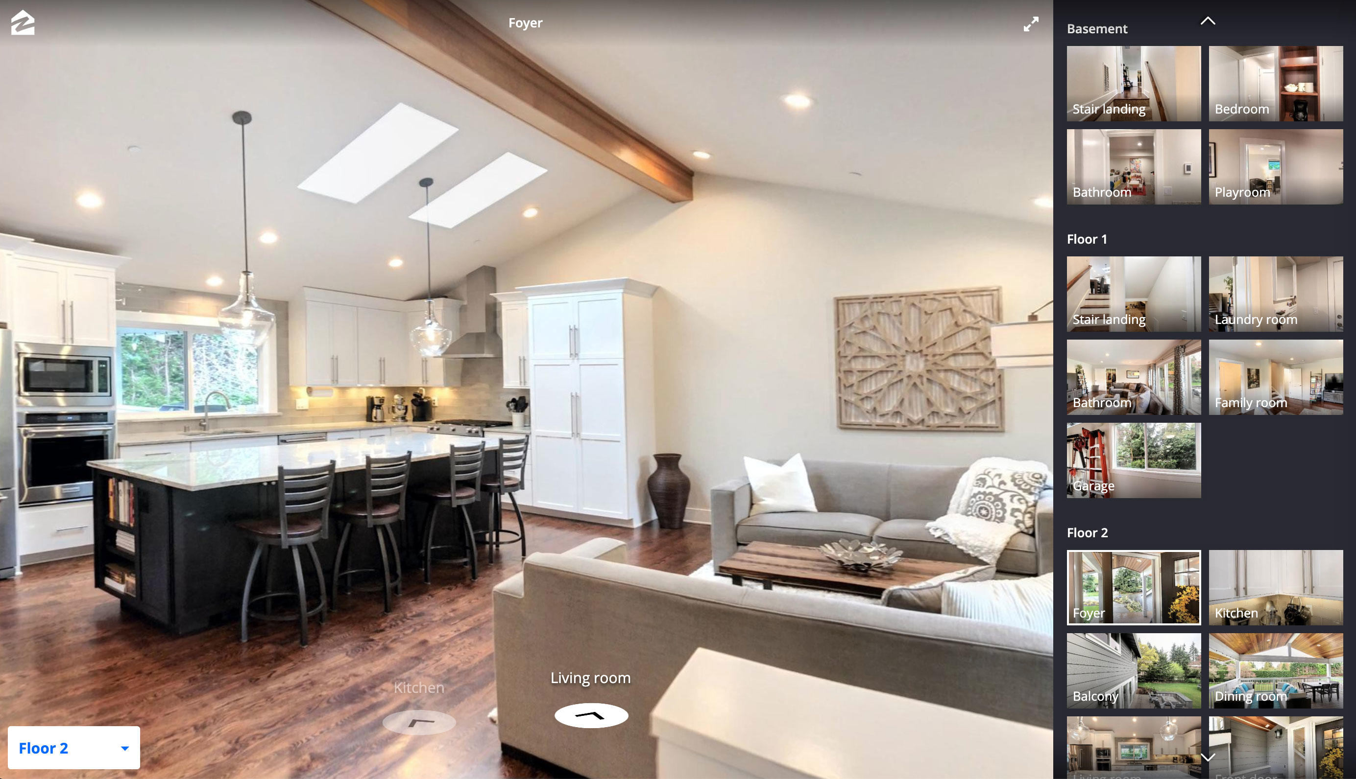 Zillow's 3D Home tool lets real estate agents show immersive VR views of homes for sale.