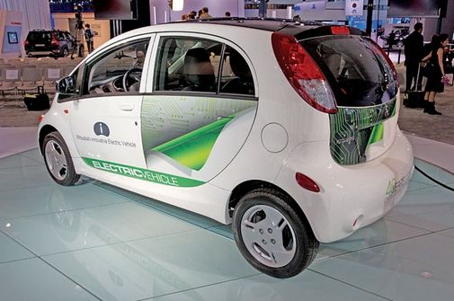 """In Los Angeles, Mitsubishi showed off its renamed """"i powered by MiEV""""--or i, for short."""