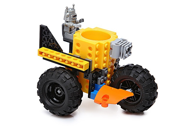 Lego shot glass with wheels