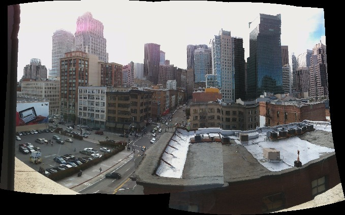 A panorama of downtown SF.