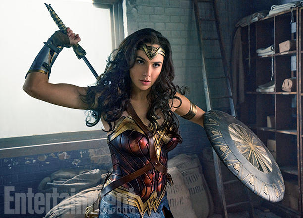"""<p>Gal Gadot is ready for battle in the new """"Wonder Woman"""" movie.</p>"""