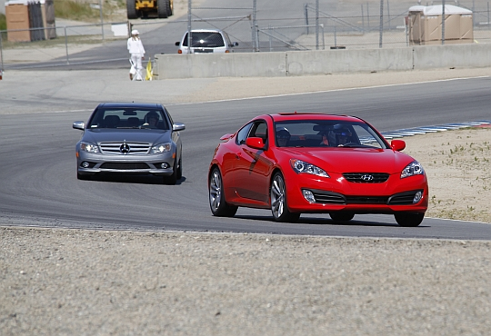 Genesis Coupe 2.0T on the track