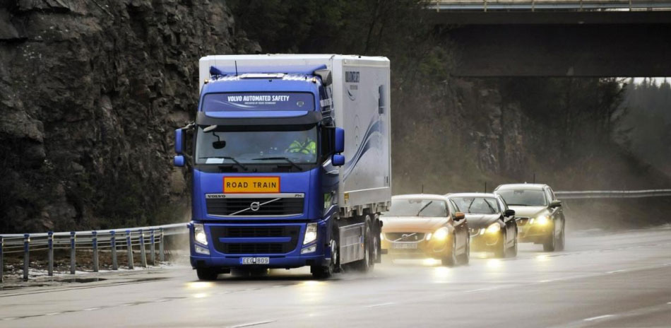 The Sartre project in Sweden tested platooning in which three computer-controlled cars linked up to a truck under the control of a human driver.