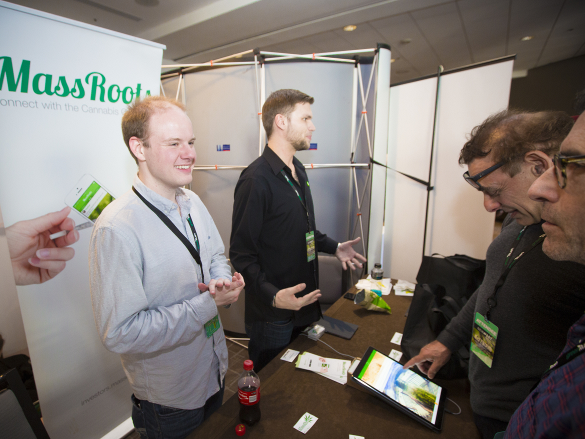 MassRoots CEO Isaac Dietrich (left), created the social network for cannibis users by maxing out his credit cards. He says the 2-year-old company is valued at more than $4 million.
