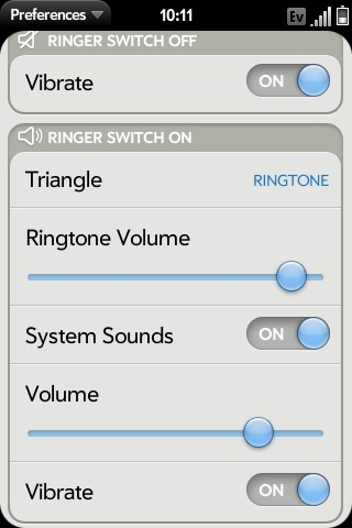 Sounds and Ringtones Options