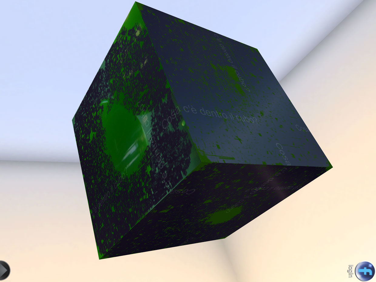 The first layer of Curiosity's cube was black; tapping it millions of blocks away revealed the layer beneath.