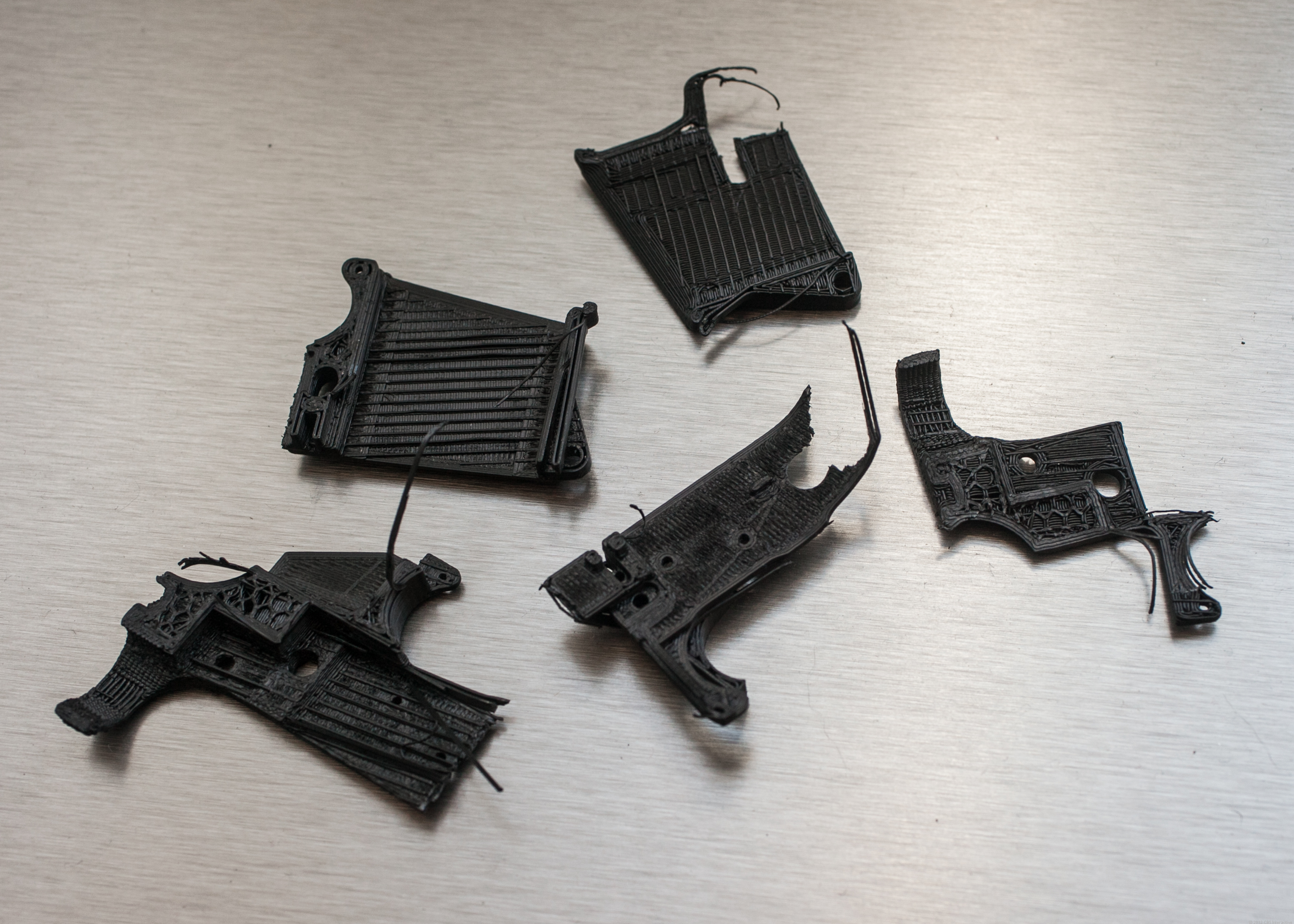 The remains of my miniature AR 15 receiver.