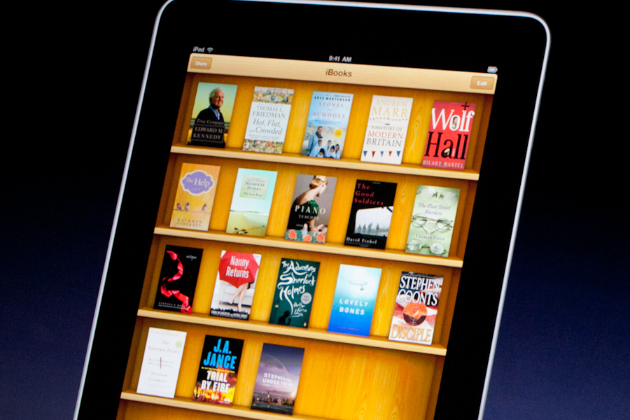 Apple's iBooks app, which serves as both a store and a reader.