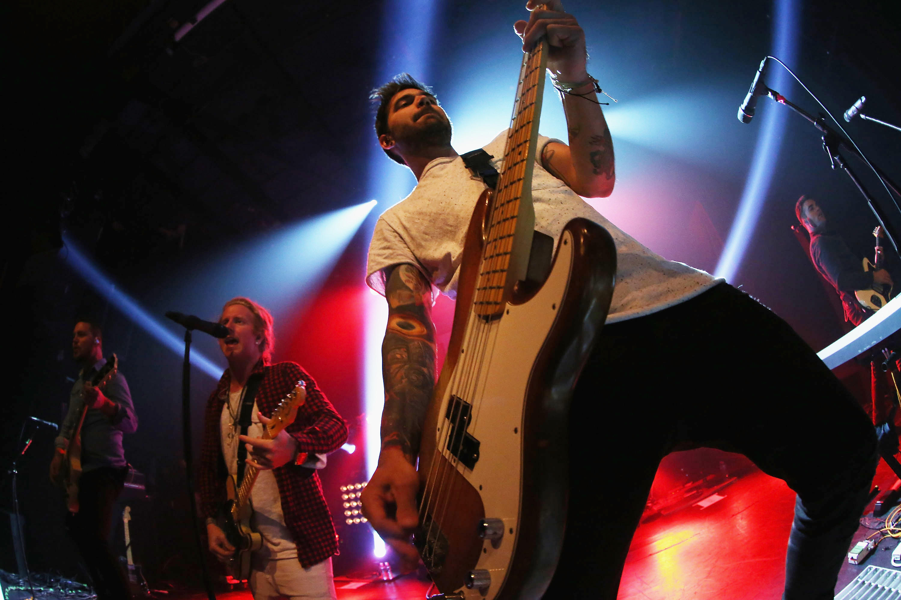 Charles Trippy plays bass in the band We The Kings