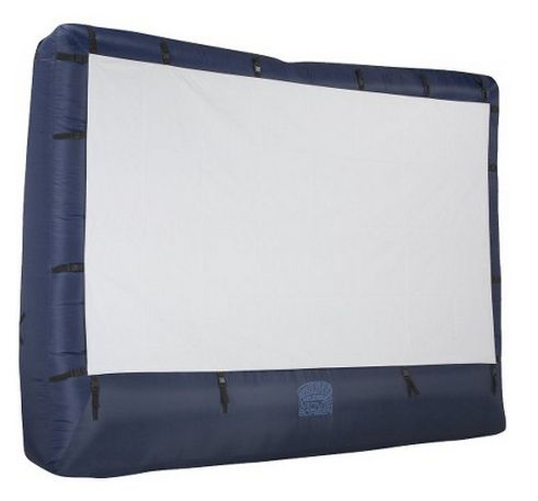 An inflatable screen is a nice perk, but it requires constant power, and the blower makes noise.