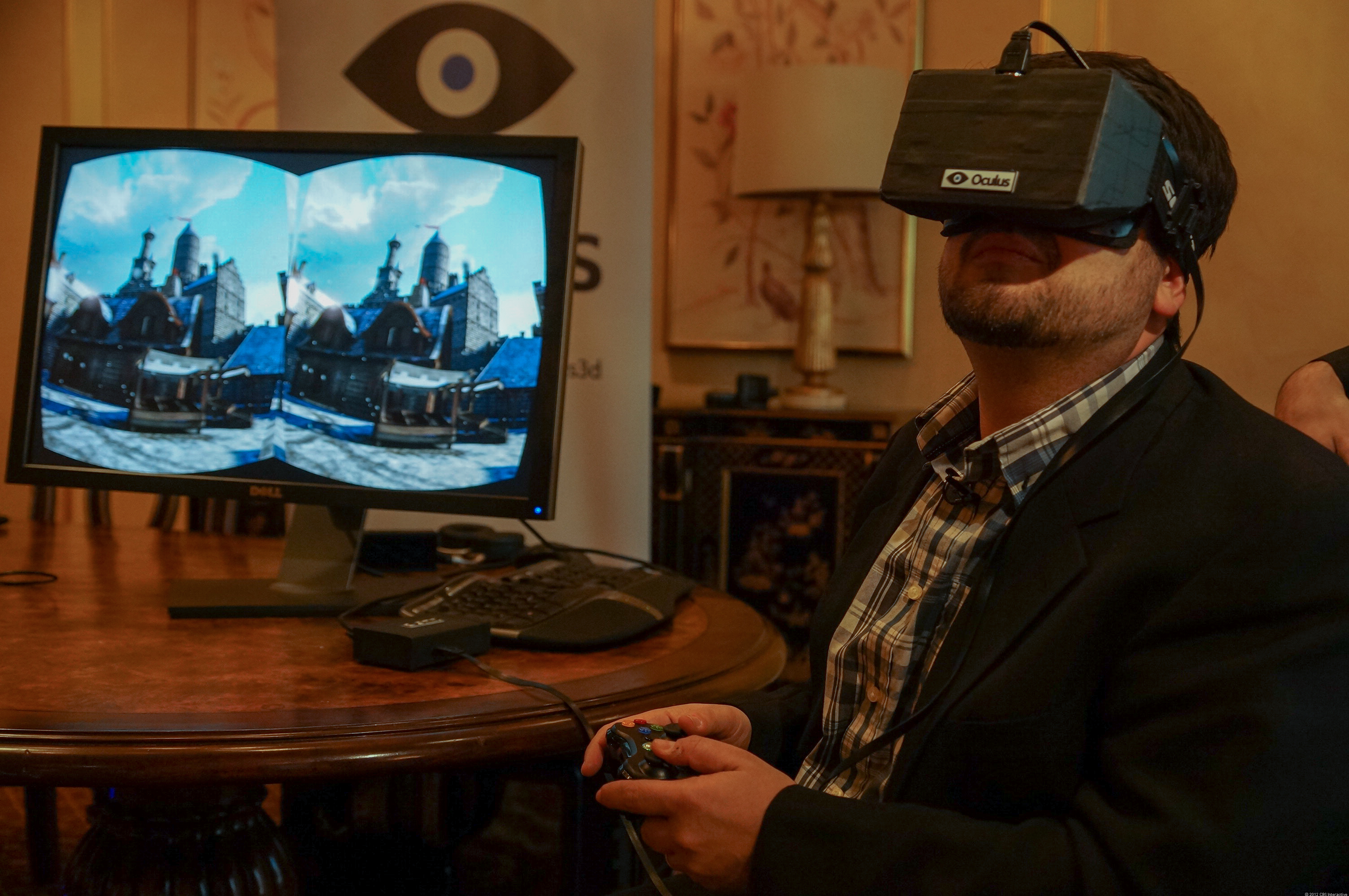 Trying out the Oculus Rift VR headset in 2013