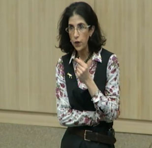 CERN physicist Fabiola Gianotto describes scientific results from the Large Hadron Collider's search for the Higgs boson.