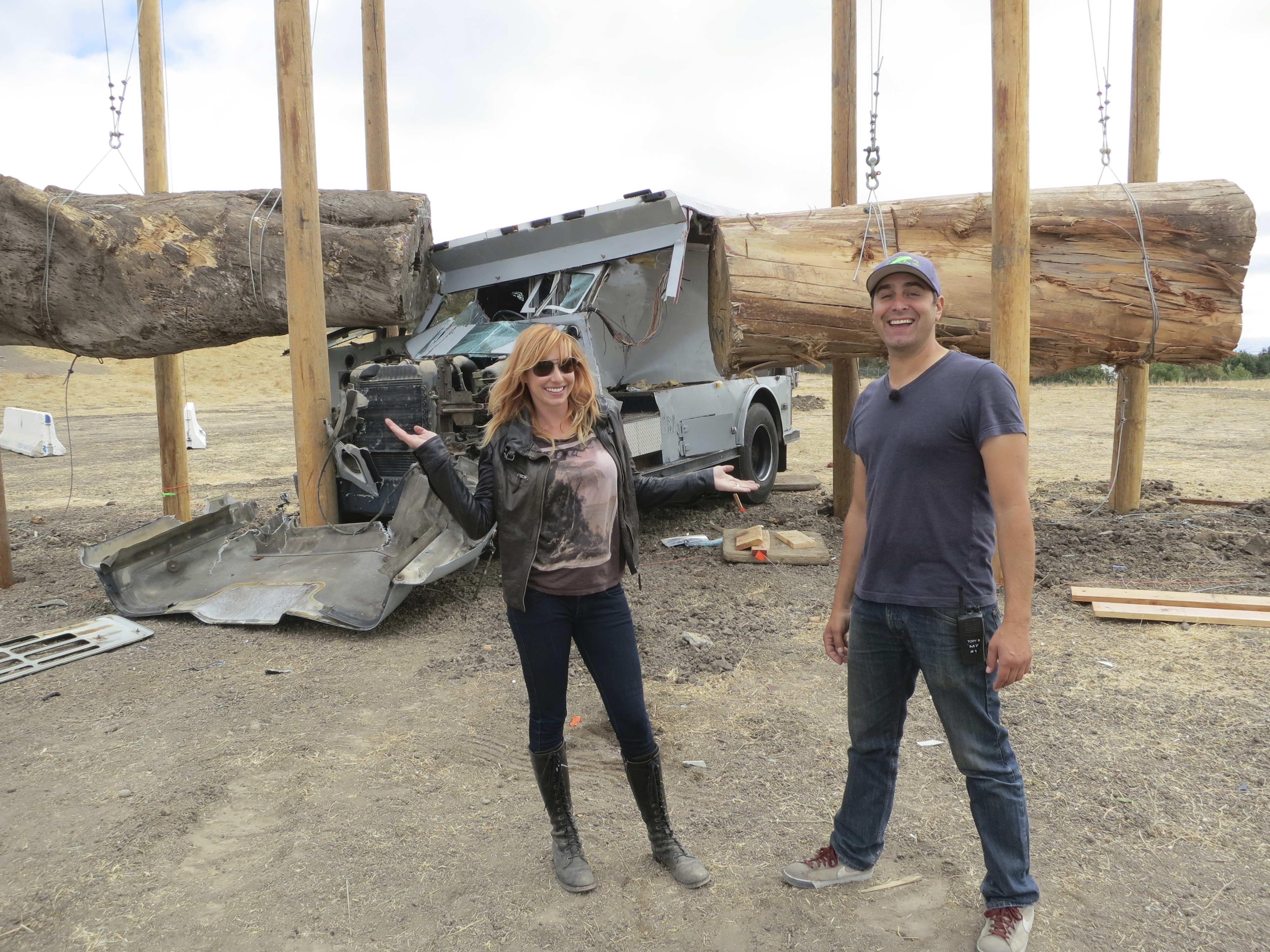"""Who needs Ewoks to take down an AT-ST when you have """"MythBusters"""" team members Kari Byron and Tory Belleci on your side?"""