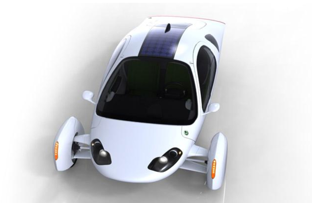 Top-view of the Aptera 2e electric vehicle