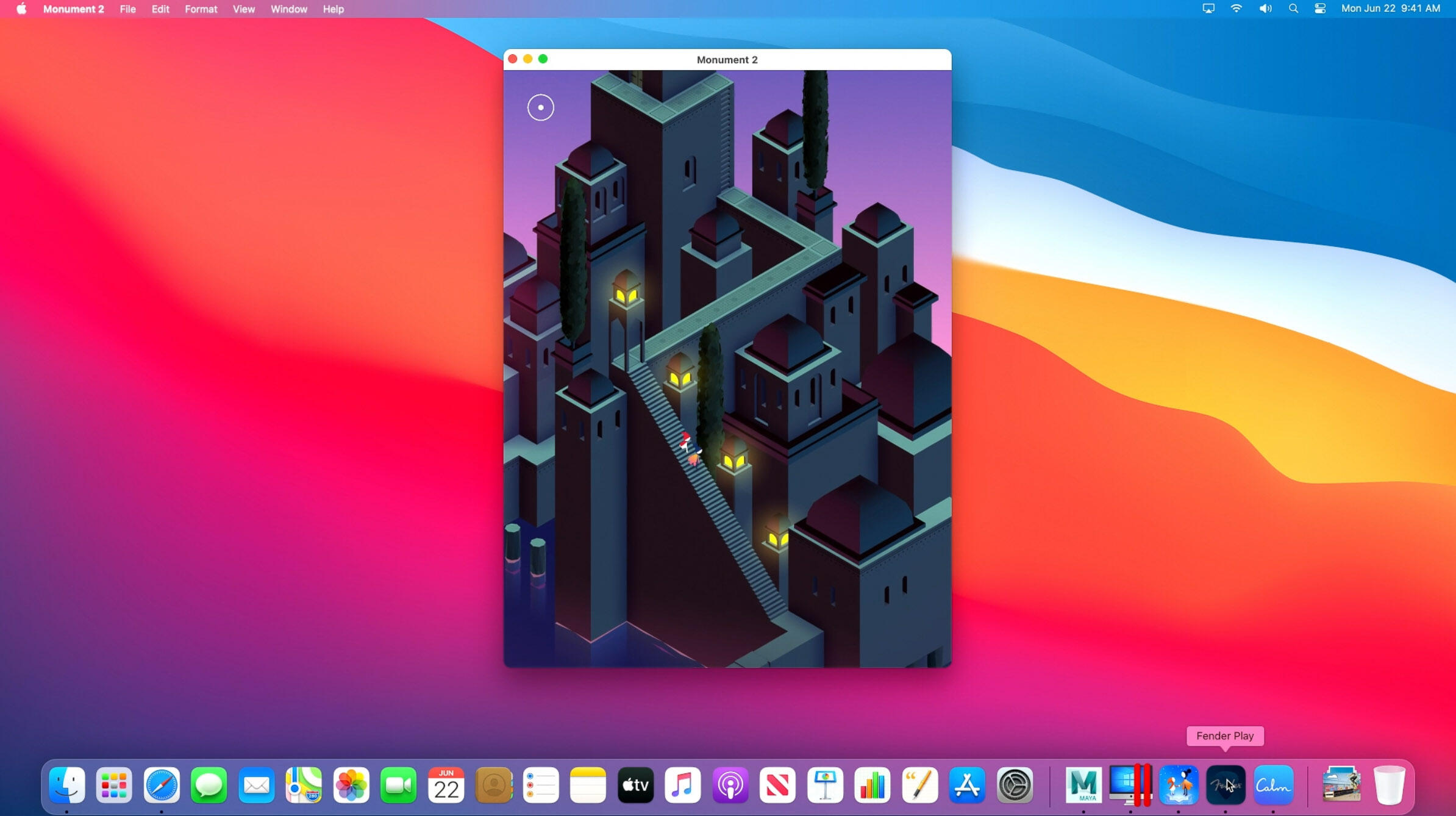 Apple's Arm-based Macs will be able to run software for iPads and iPhones, including the game Monument Valley.