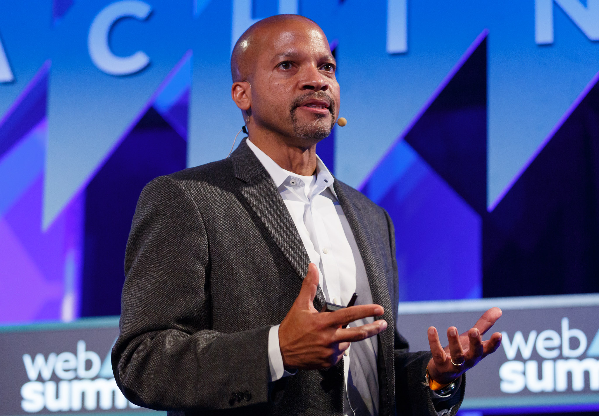 Don Butler, Ford's executive director of connected vehicles and services, speaks at Web Summit 2015.