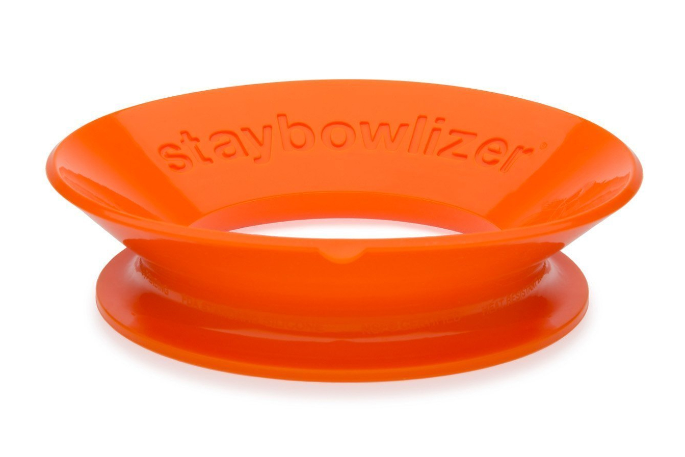 The Staybowlizer adds a splash of color (available in more than just orange) in the kitchen and can be used for a variety of tasks.