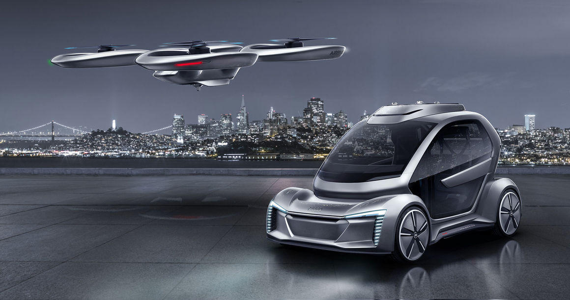 Audi and Airbus drone taxi concept