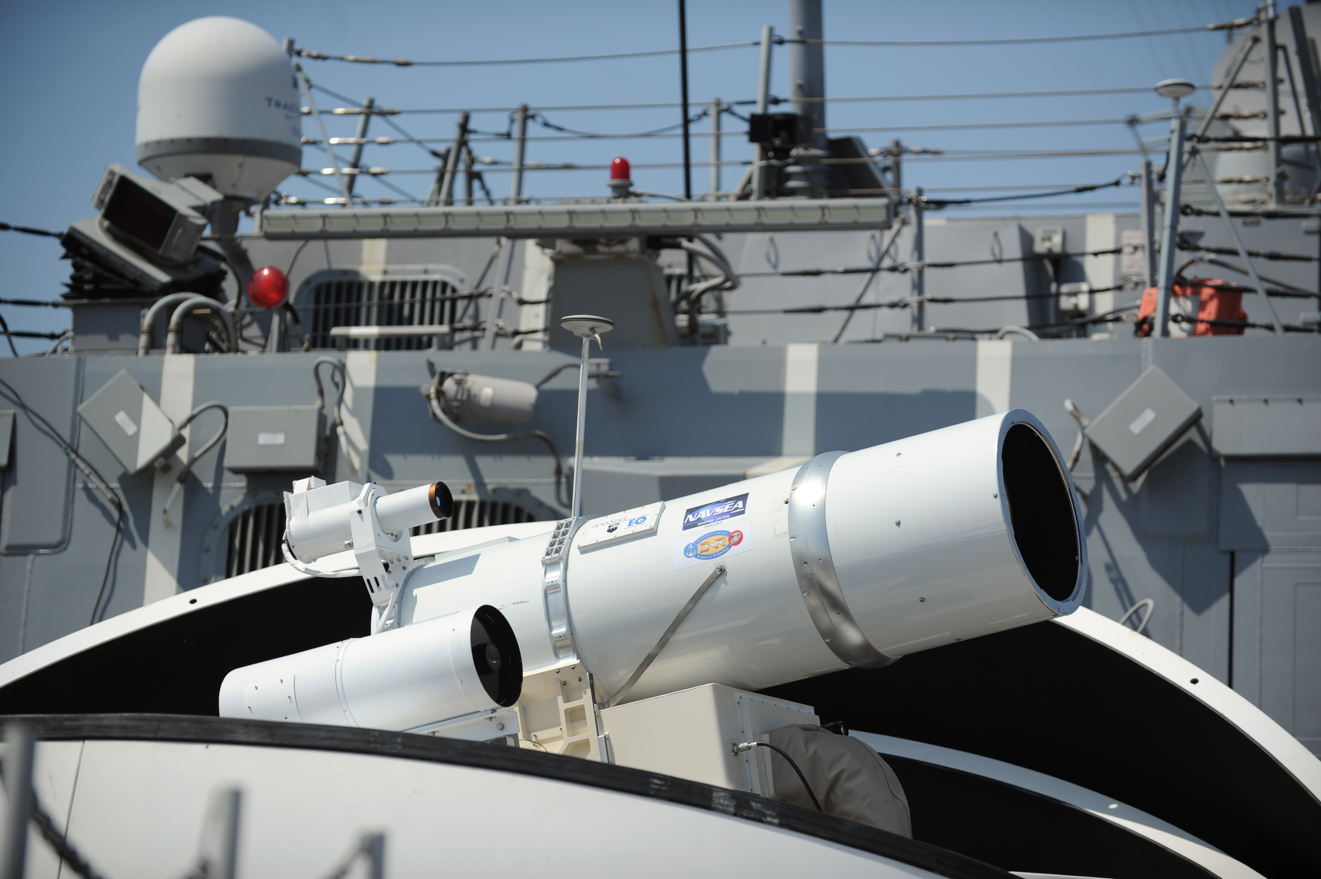 U.S, Navy LAWS laser weapon system