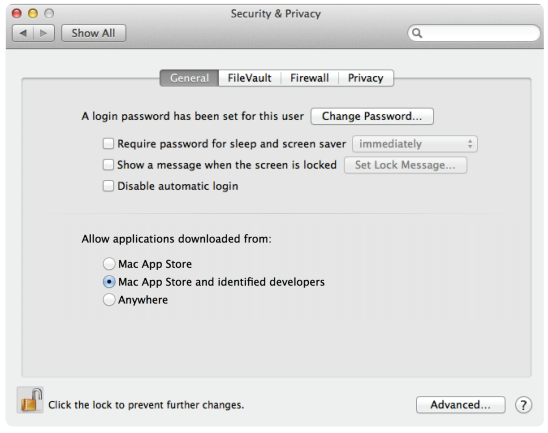 Users will have the ability to set the level of protection they want with Mountain Lion's new Gatekeeper feature.