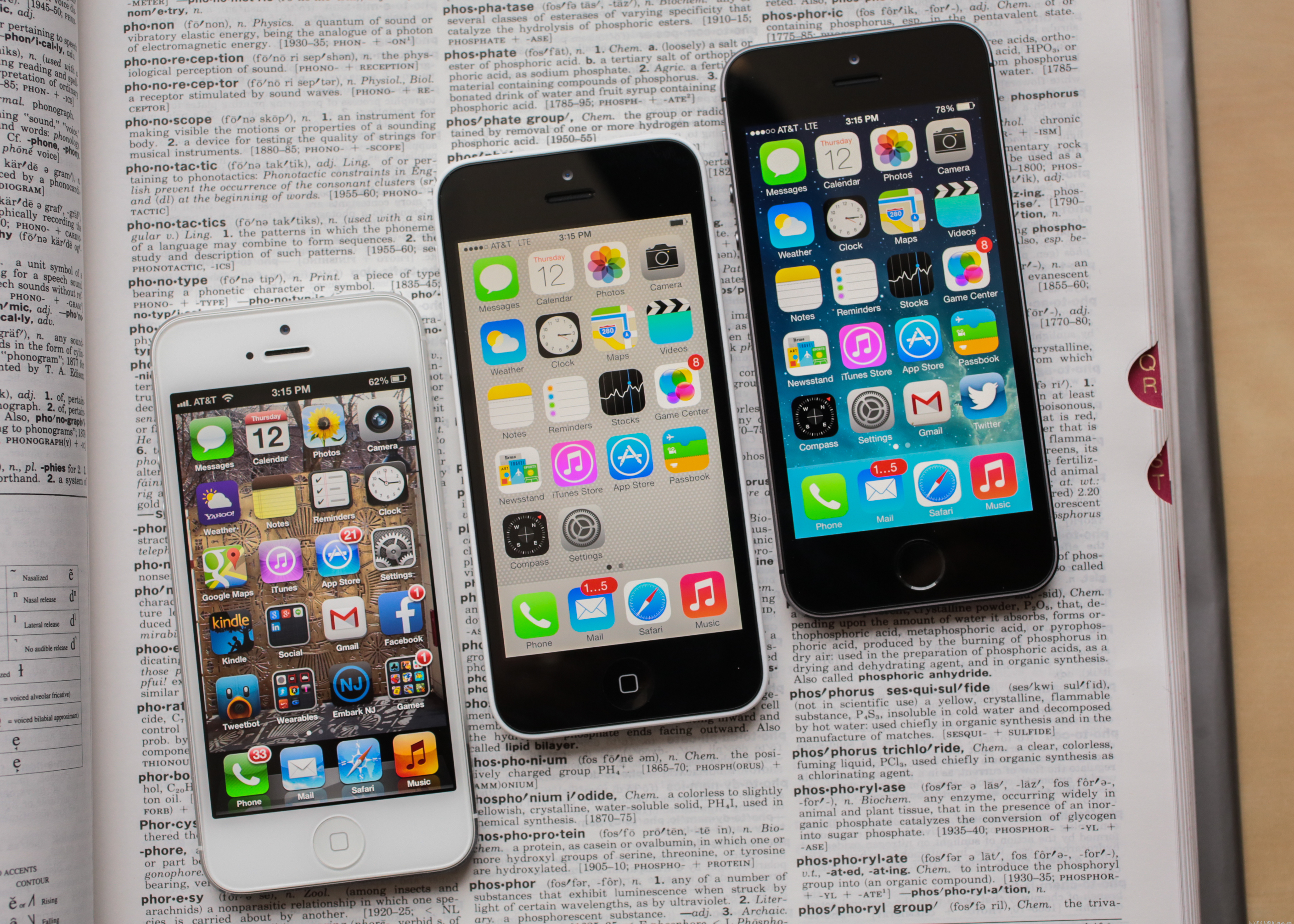 The iPhone 5 family