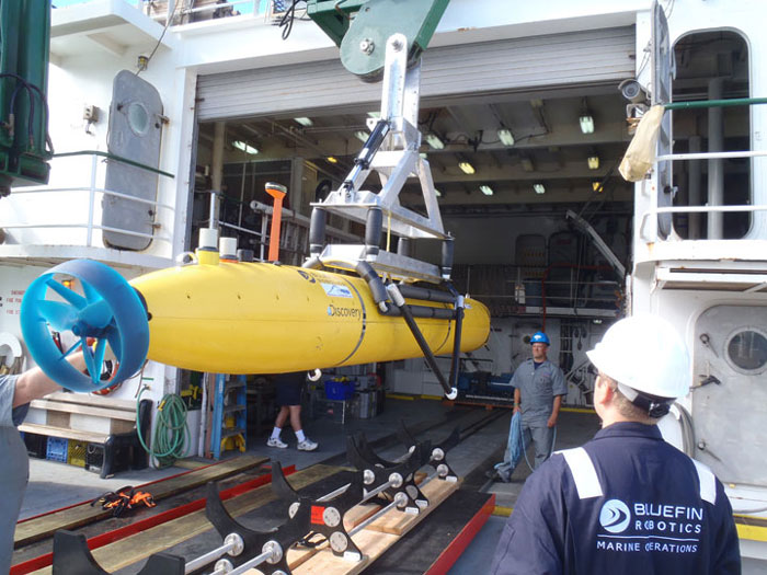 Sonar search with the AUV
