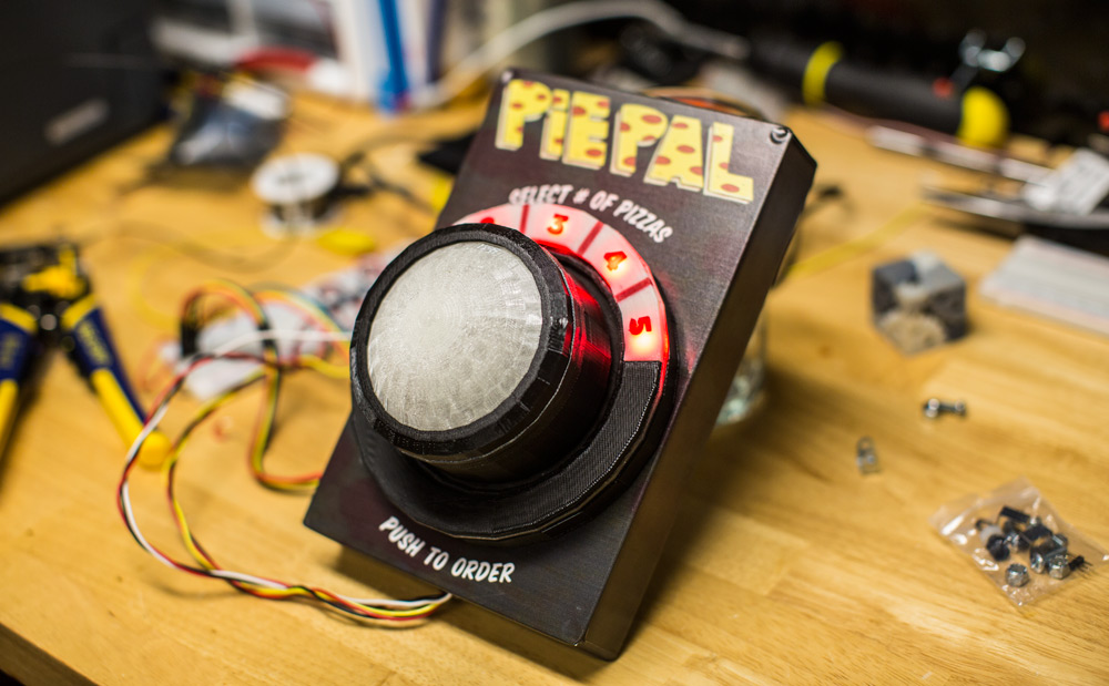 PiePal button for ordering pizza