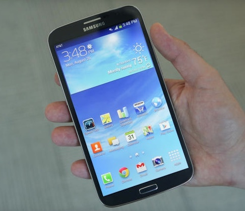 The 6.3-inch Galaxy Mega. Samsung is also about to announce the Galaxy Note 3.  Should Apple take Samsung on?
