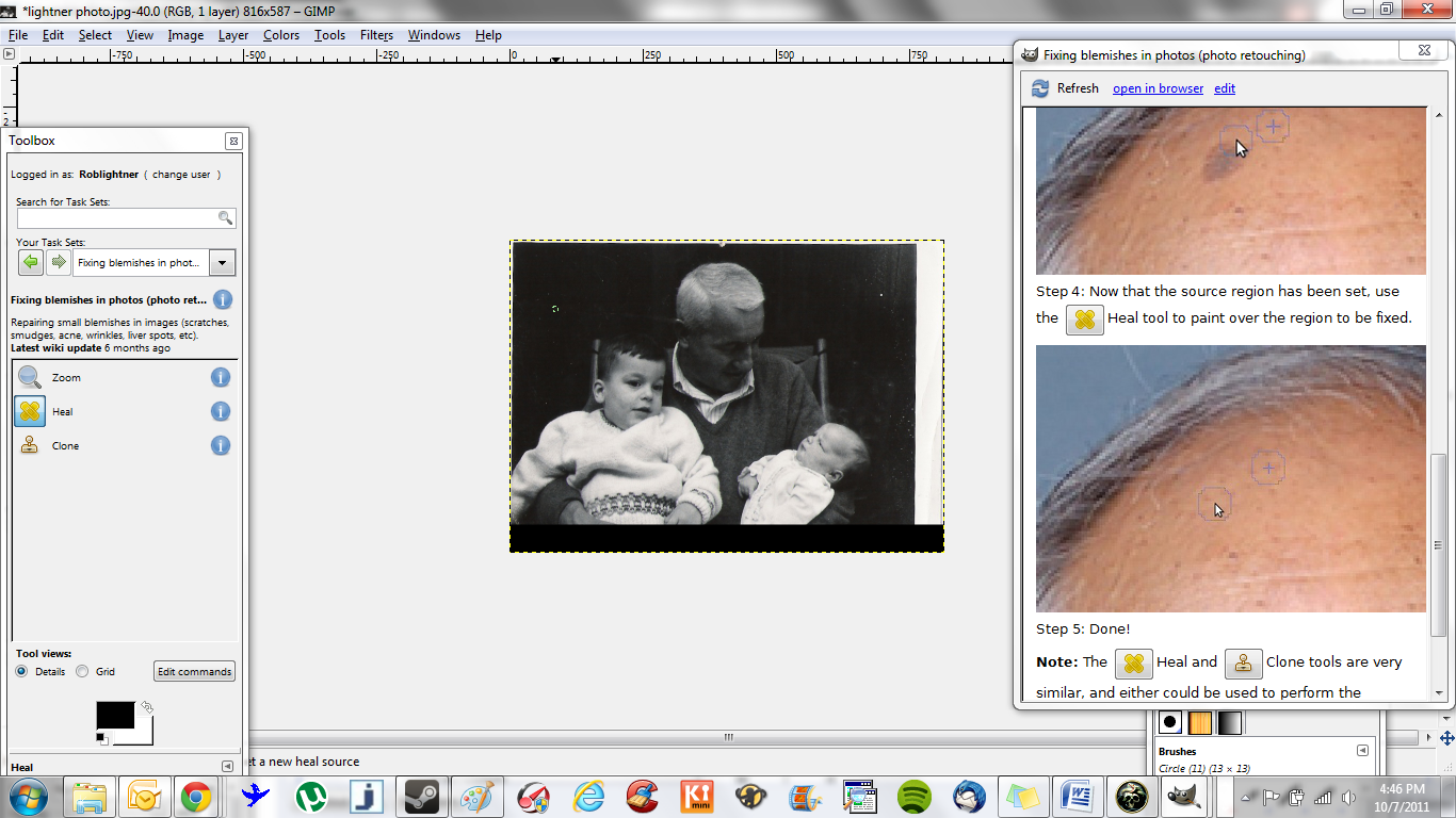 Step 7: Use tools and instructions to edit photo.