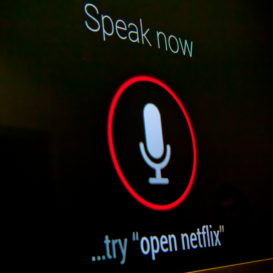 Voice search on Google TV.