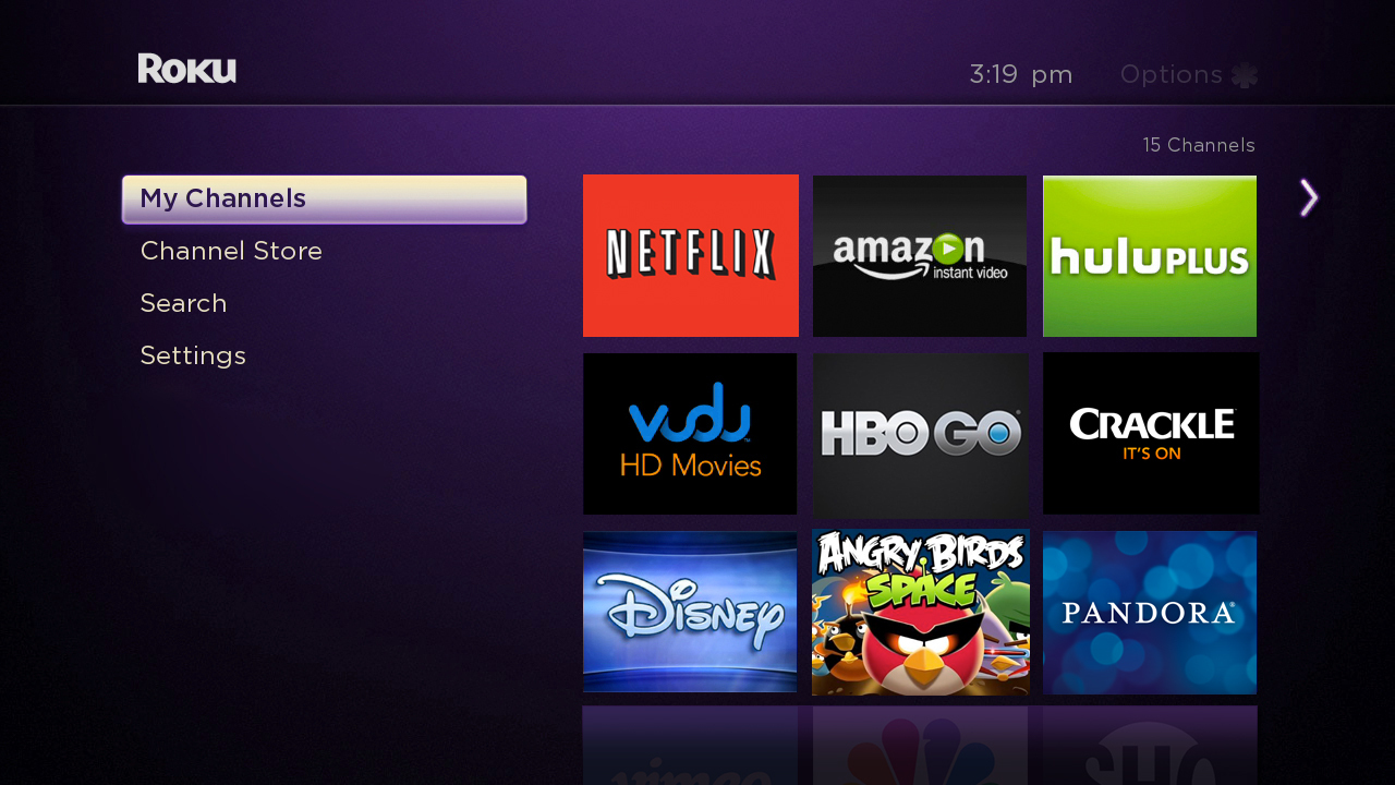 Roku 3 new user interface