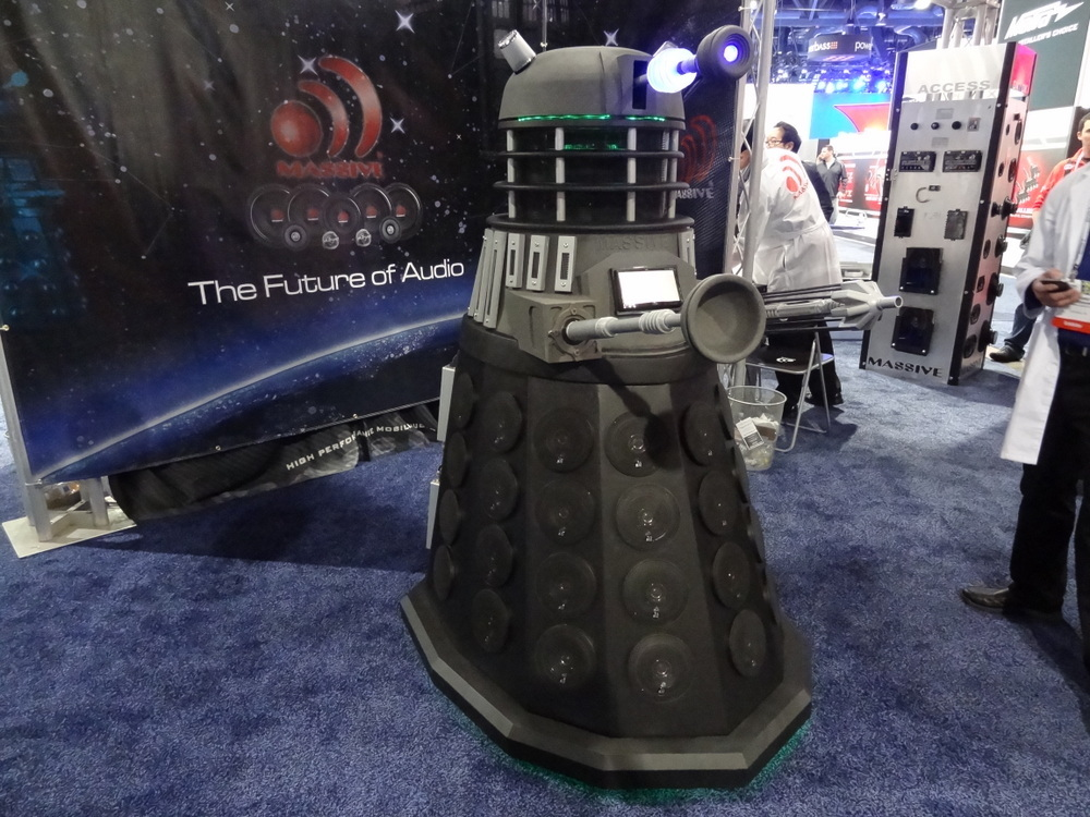 Dalek made from audio gear