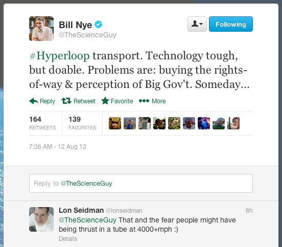 Money and fear ... come on, Bill Nye! Don't go cynical on me now!