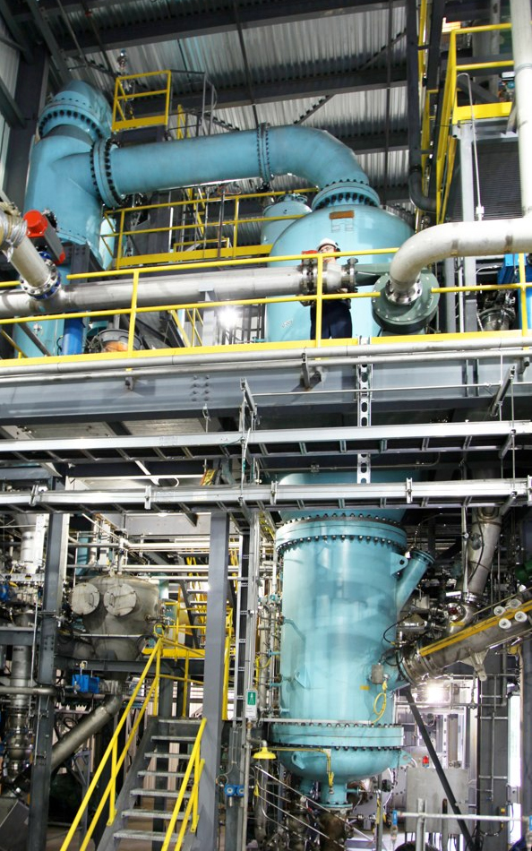 Enerkem gasifies waste and then uses a catalyst to convert the sythetic gas to fuel or other chemicals.