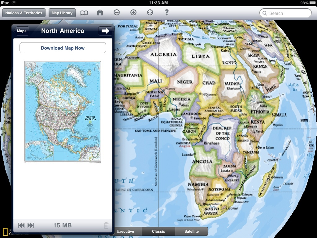 National Geographic World Atlas HD map download
