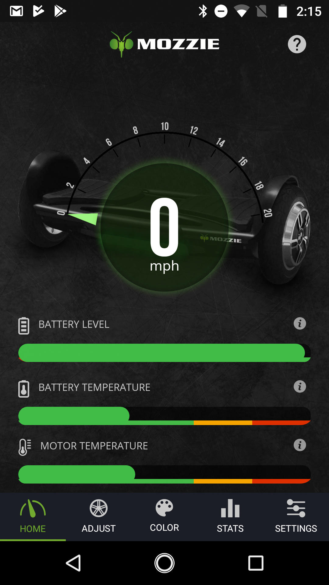 Mozzie hoverboard app