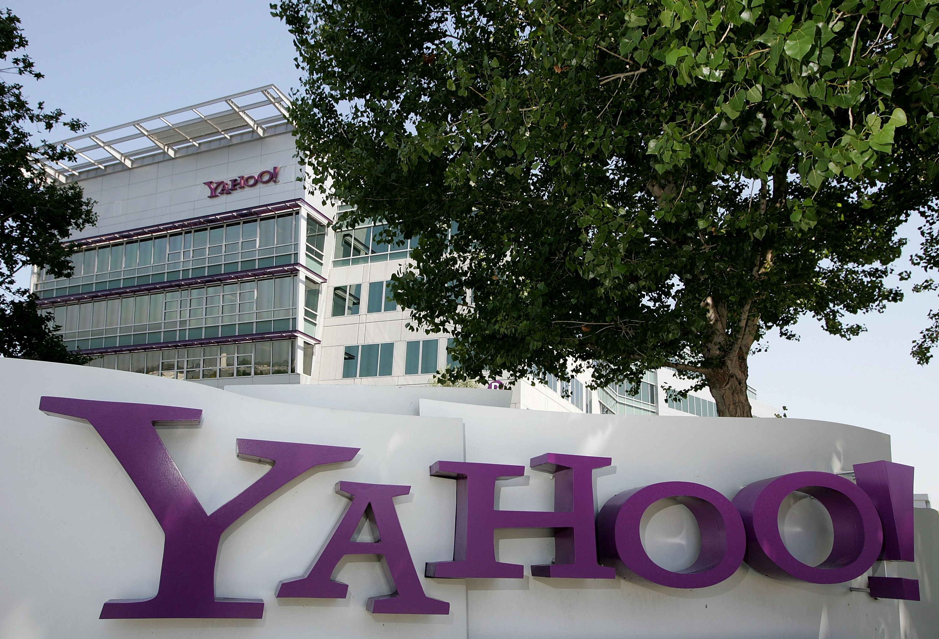 SUNNYVALE, CA - JULY 18:  A sign is seen in front of the Yahoo! headquarters July 18, 2006 in Sunnyvale, California. Yahoo! Inc. reported  second quarter earnings of $164.3 million or 11 cents a share, down 78 percent from the second quarter of 2005 when the company reported earnings of 754.7 million, or 51 cents per share.  (Photo by Justin Sullivan/Getty Images)