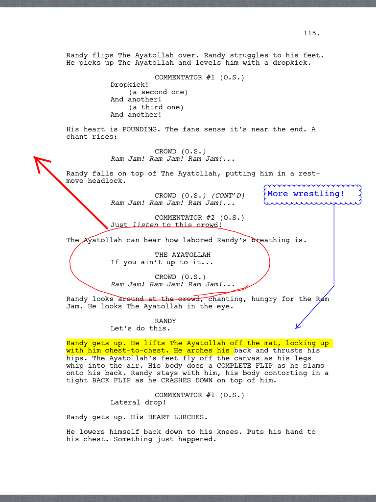 GoodReader reads PDF versions of scripts, but can also mark them up.