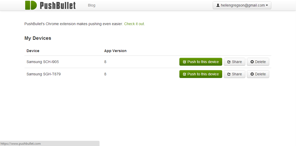 PushBullet for Android