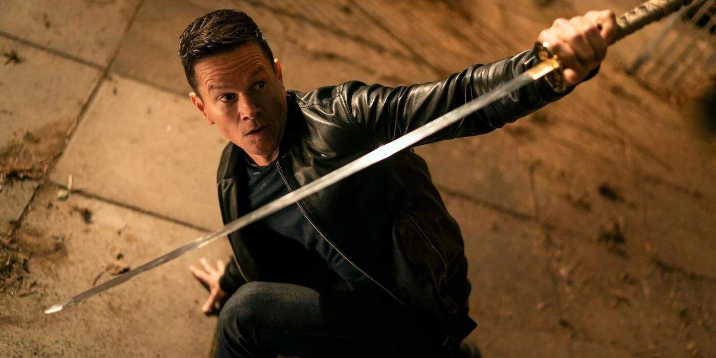 Mark Wahlberg with a sword in Infinite