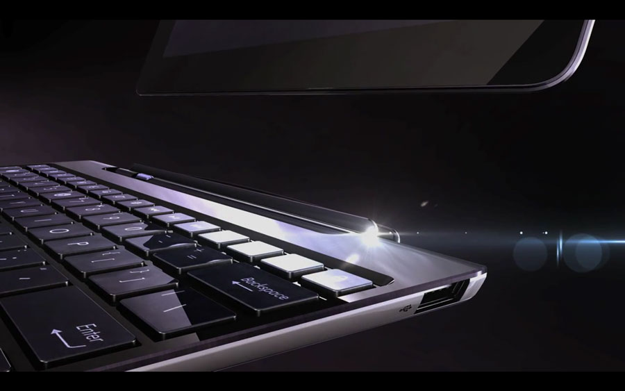The Asus Transformer is an Android tablet with a detachable keyboard.