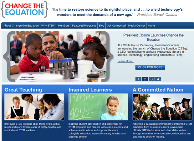 Change the Equation is looking to spur education in science, technology, engineering, and math.
