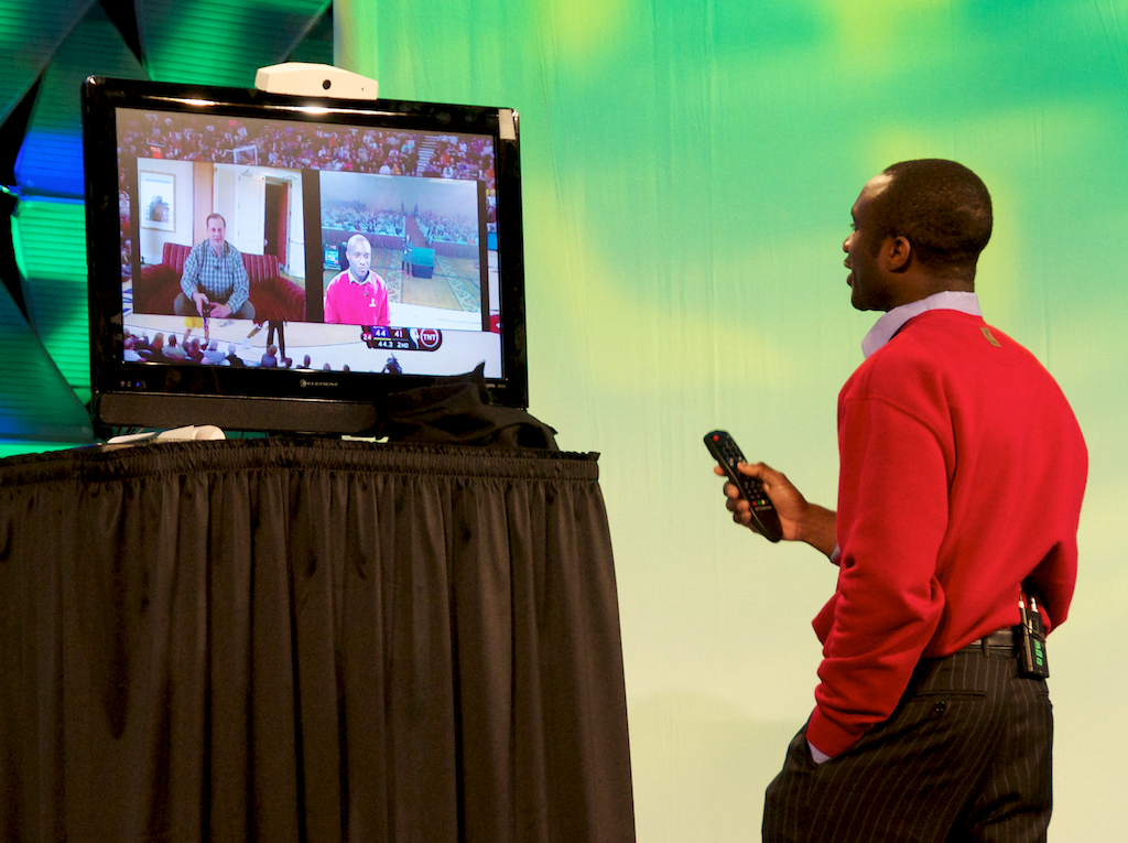 Nyoombl turns your TV into a video conferencing tool