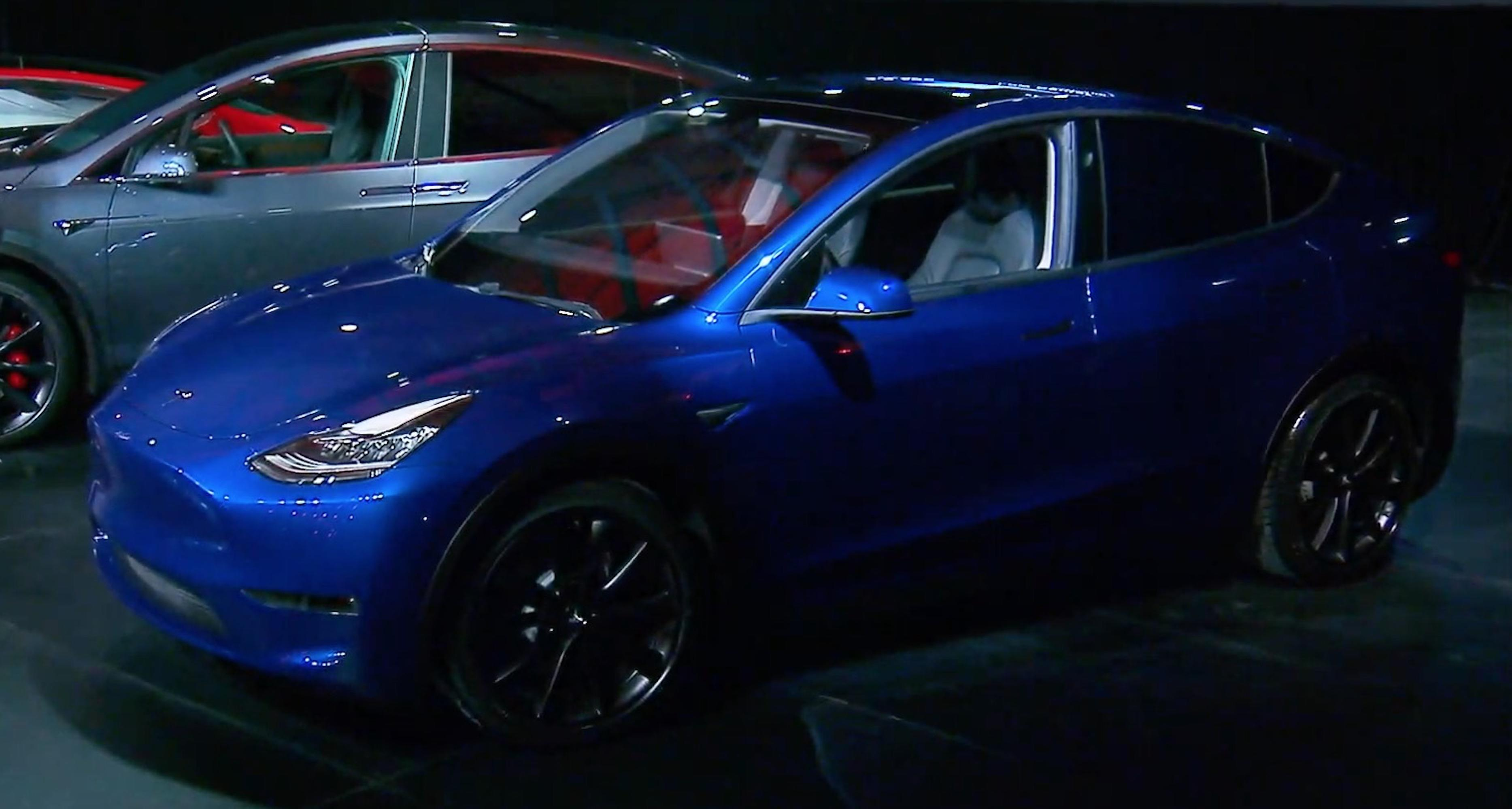 Tesla Model Y at its unveiling