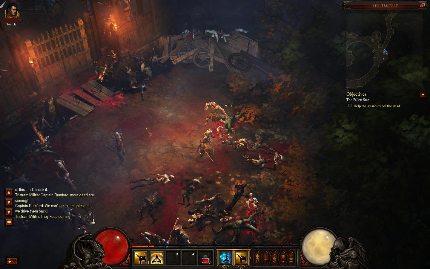 Diablo III's environments are gloomy, foreboding, and gorgeous.