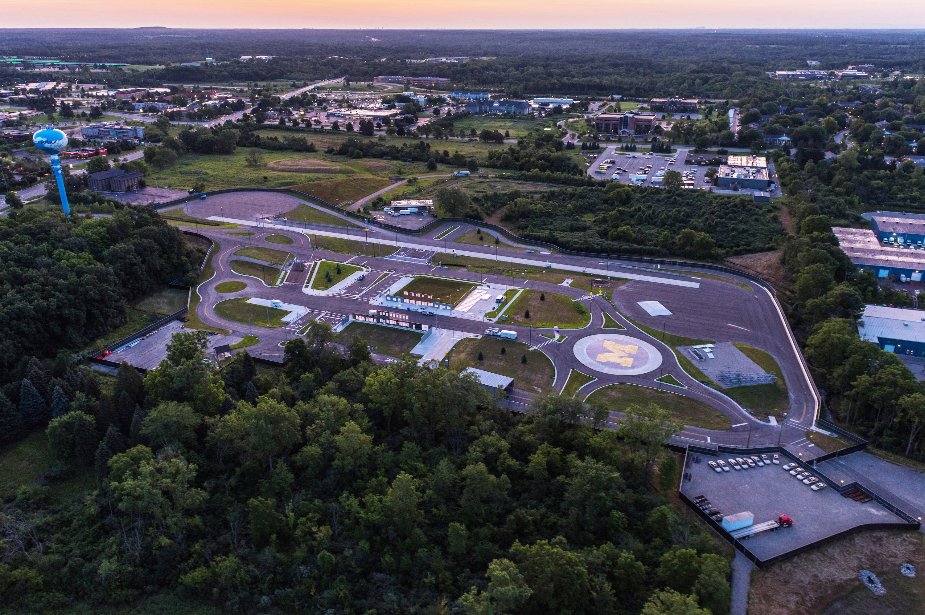 The Mcity site packs a lot of driving variety into 32 acres on the University of Michigan campus.