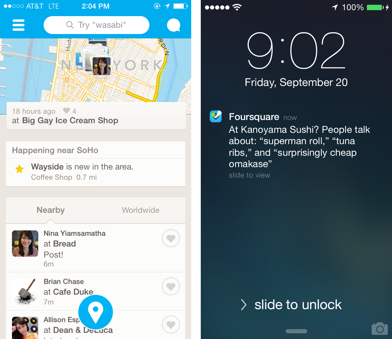 foursquare real-time recommendations